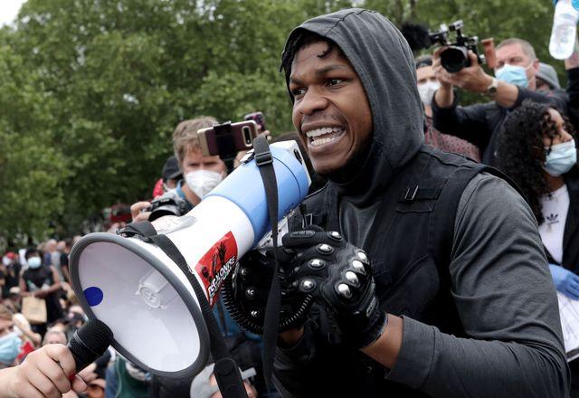 star wars actor john boyega pictured at a black lives matter protest in london