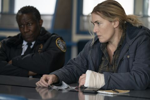 chief carter and mare sheehan in mare of easttown