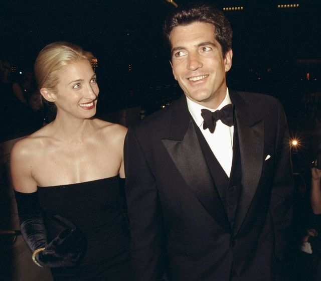 john f kennedy jr and his wife, carolyn bessette kennedy,