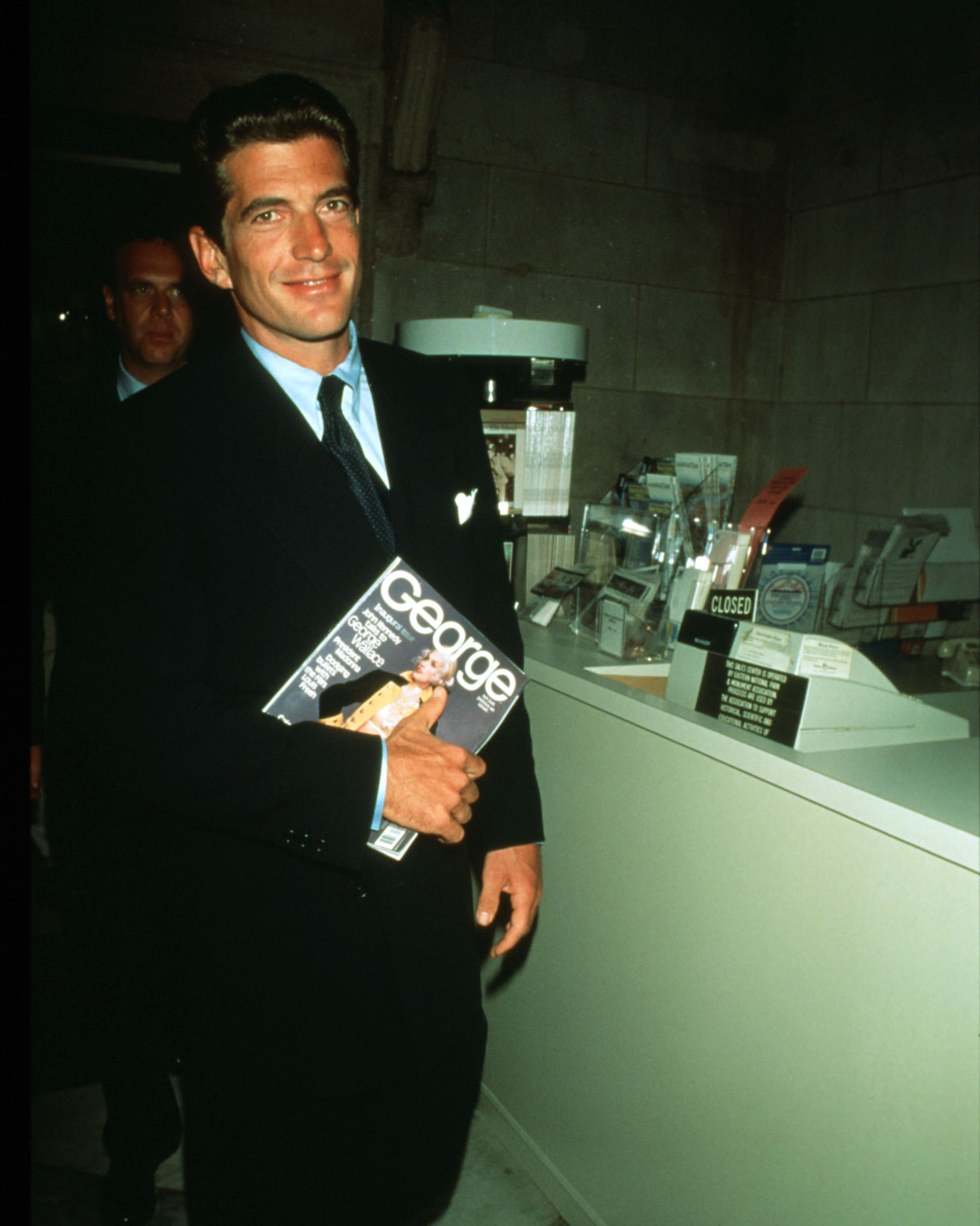 John F. Kennedy, Jr. at the press conference for George 's launch.
