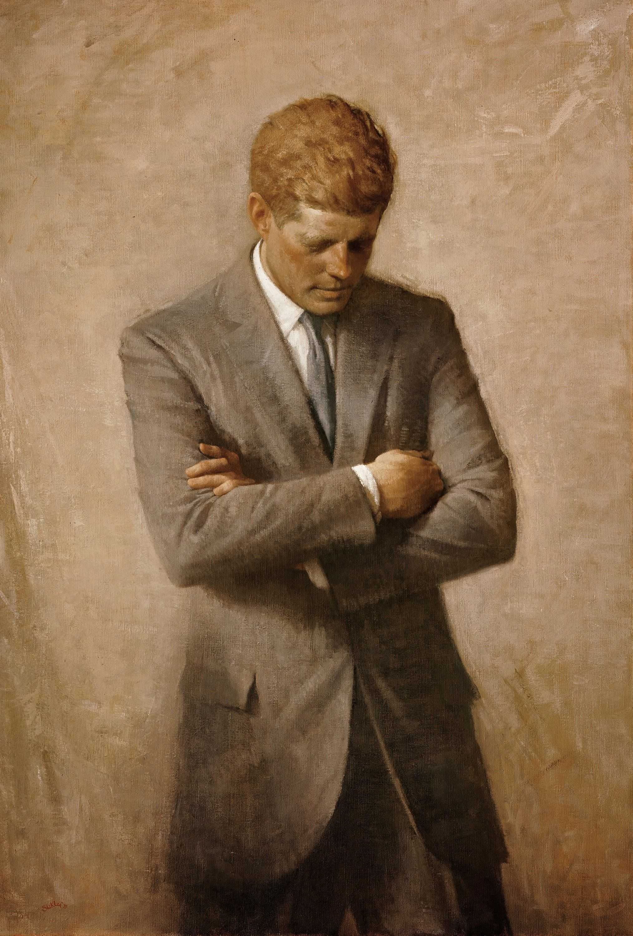Jfk S Official White House Portrait The Story Of Aaron Shikler Posthumous Painting John F Kennedy