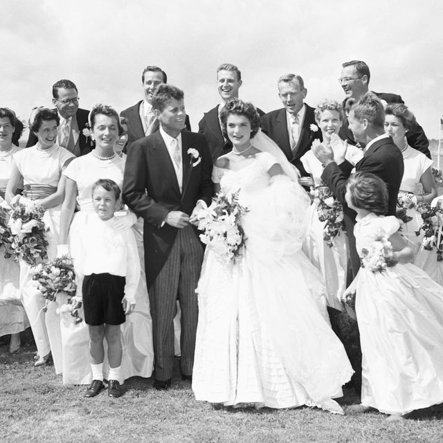 john and jackie kennedy on wedding day