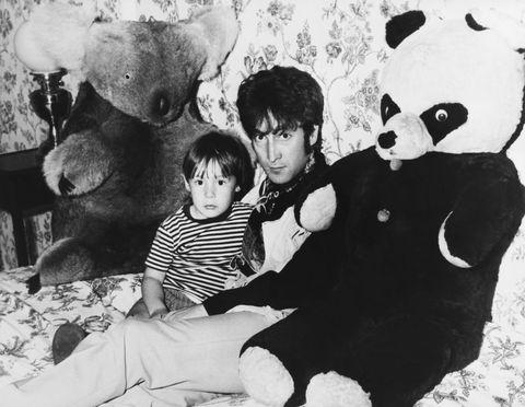 John Lennon And His Son Julian