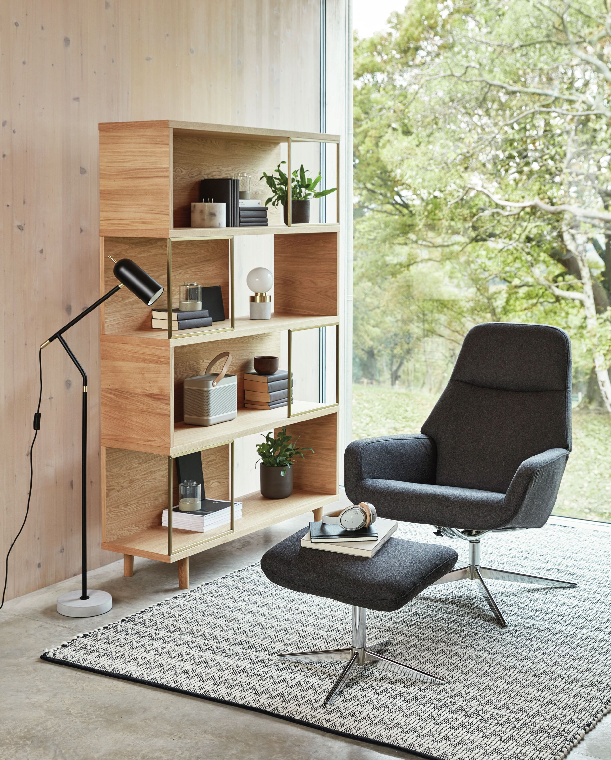 Design Project by John Lewis No.004 Display Unit, Oak - bookcase, bookshelf
