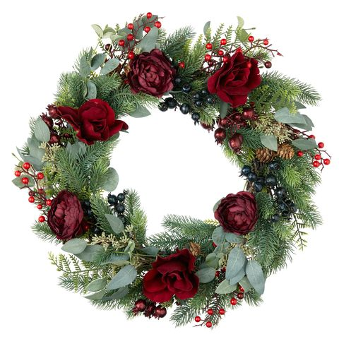 Christmas Wreaths Door