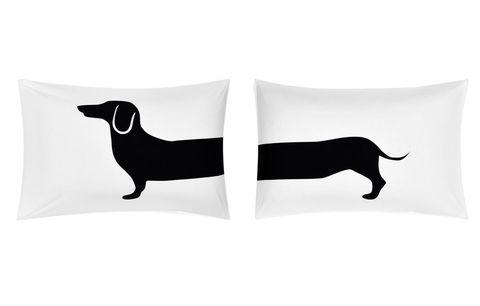 John Lewis Dog Print Novelty Pillowcase, Pair