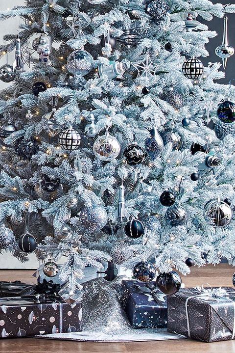 silver christmas tree skirt jet christmas 2018 decorating scheme john lewis