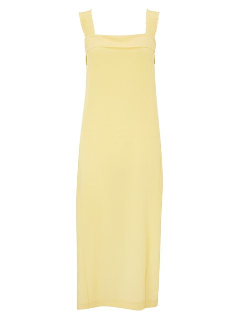 John Lewis pale yellow maxi dress