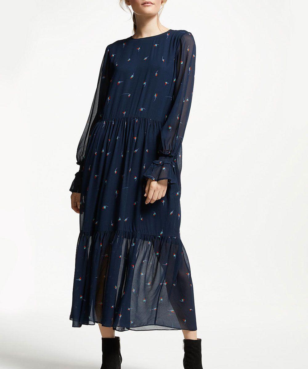 c7956f1f168d River Island White Floral Print Shirt Dress | Top Mode Depot