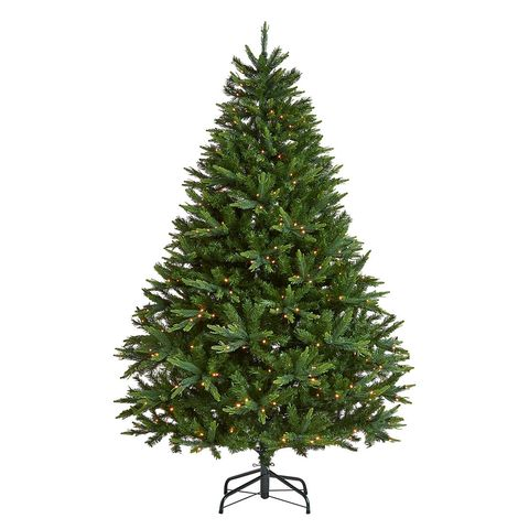 John Lewis & Partners Gold Peardrop Pre-lit Christmas Tree, 7ft