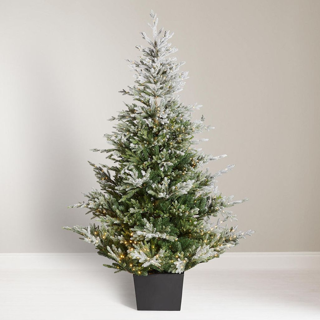 John Lewis & Partners Moonstone Cotswold Pre-lit Christmas Tree, 7ft