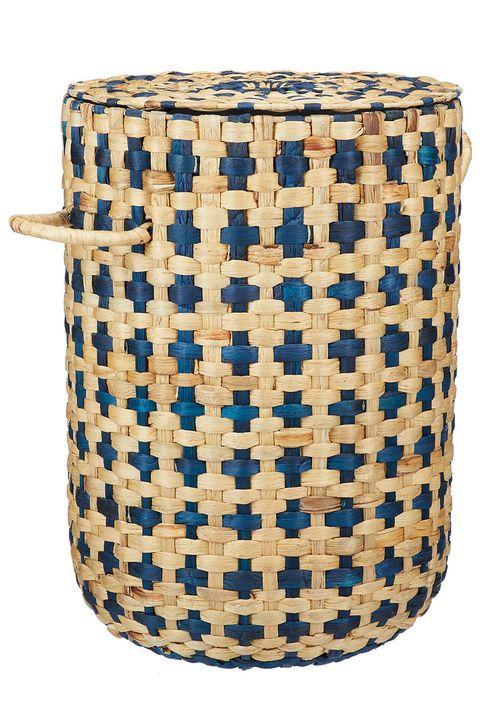 John Lewis & Partners Nadia Laundry Basket, Navy