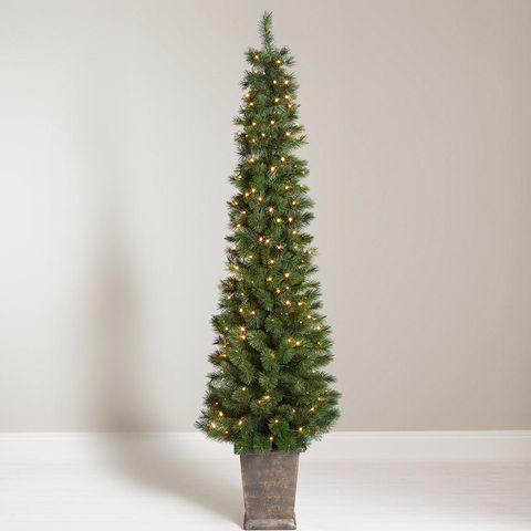 john lewis partners pencil pine potted pre lit christmas tree - Pre Lit Pencil Christmas Trees