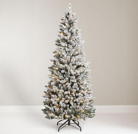 john lewis partners snowy pop up pre lit christmas tree - Pre Lit And Decorated Christmas Trees
