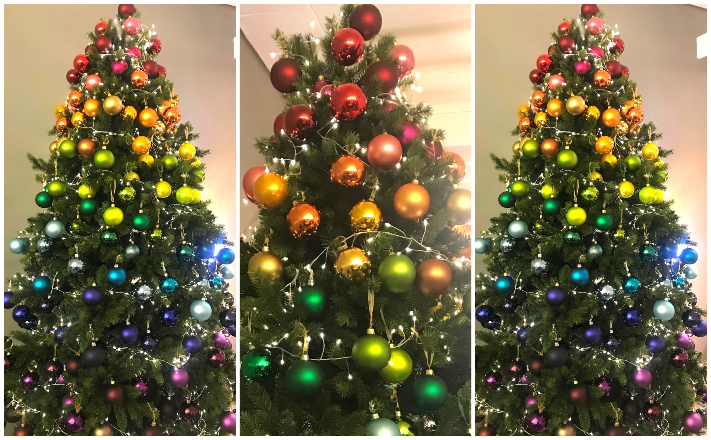 rainbow christmas trees will be biggest christmas 2018 trend says john lewis - Narwhal Christmas Decoration