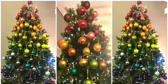 rainbow christmas trees will be biggest christmas 2018 trend says john lewis