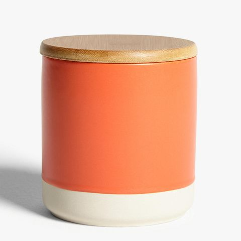 John Lewis & Partners orange storage container