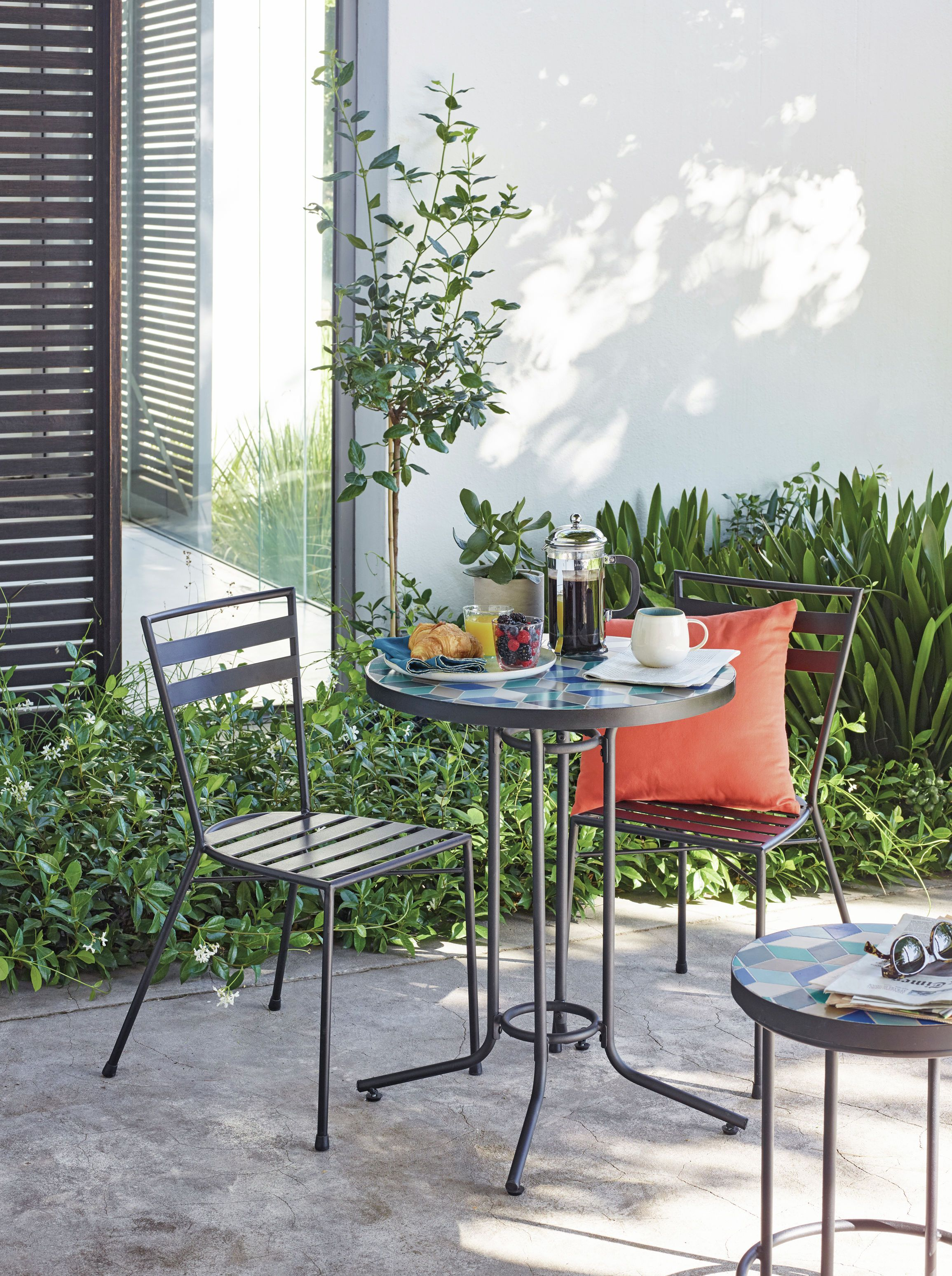 John Lewis Suri 2 Seater Mosaic Bistro Garden Table and Chairs Set, Multi