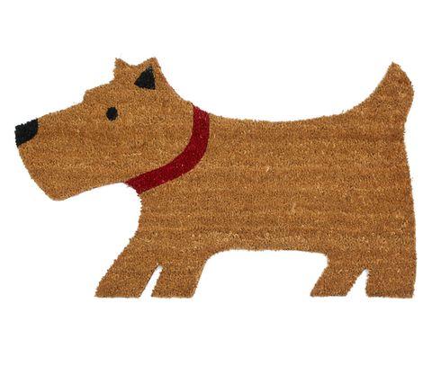 John Lewis, Lewis The Scottie Dog Door Mat, Natural