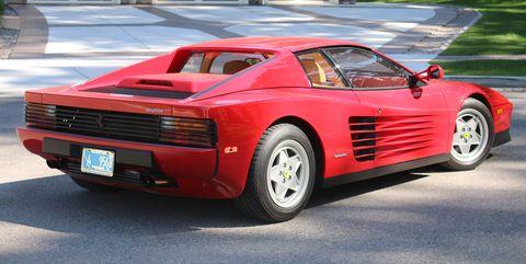 Land vehicle, Vehicle, Ferrari testarossa, Car, Supercar, Sports car, Ferrari tr, Race car, Automotive design, Ferrari 348,