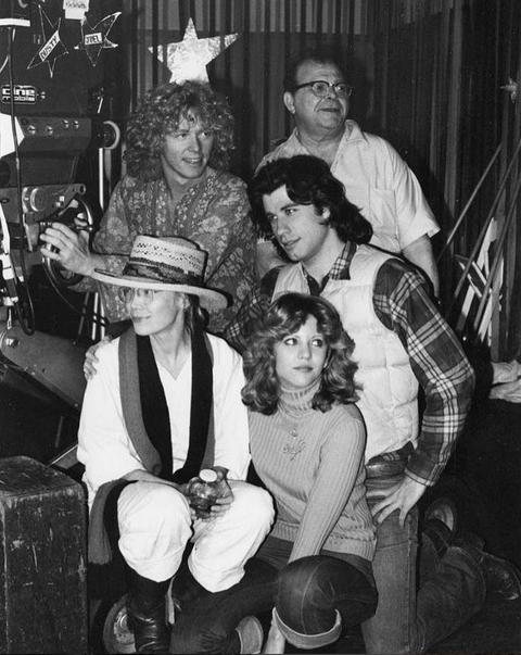John Travolta en el rodaje de 'Carrie'