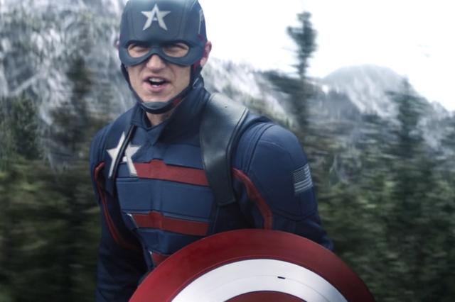 wyatt russell, capitán américa en falcon y el soldado de invierno