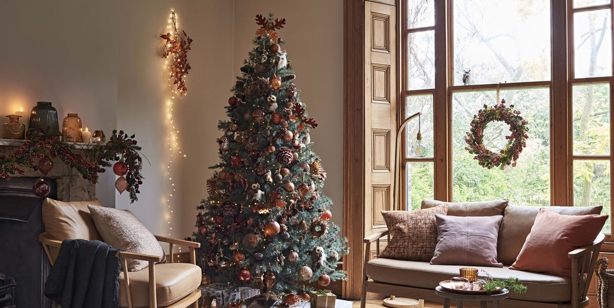 autumn christmas trees the alternative christmas 2018 decorating trend