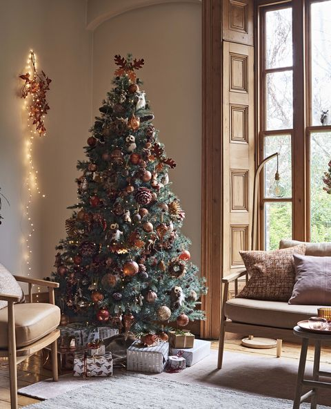 amber john lewis autumn themed christmas 2018 decorating theme - Pics Of Decorated Christmas Trees