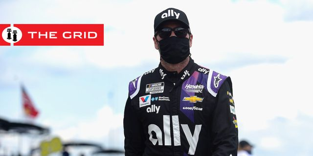 long pond, pennsylvania   june 28 jimmie johnson, driver of the 48 ally chevrolet, walks on the grid prior to the nascar cup series pocono 350 at pocono raceway on june 28, 2020 in long pond, pennsylvania photo by jared c tiltongetty images