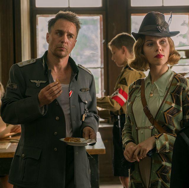 Sam Rockwell and Scarlett Johansson in Jojo Rabbit