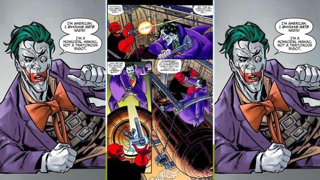 viñetas de cómic en las que aparece el villano de dc comics joker
