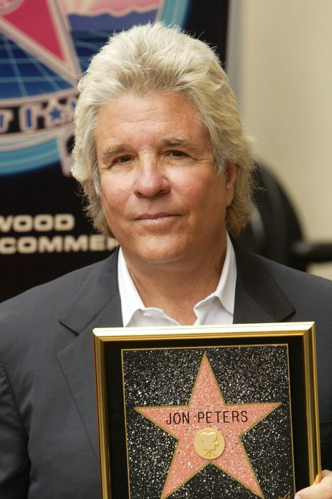 jon peters recieves a star on the walk of fame