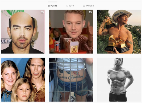 Diplo Instagram >> Diplo Hacked The Jonas Brothers Instagram To Post Thirst Traps