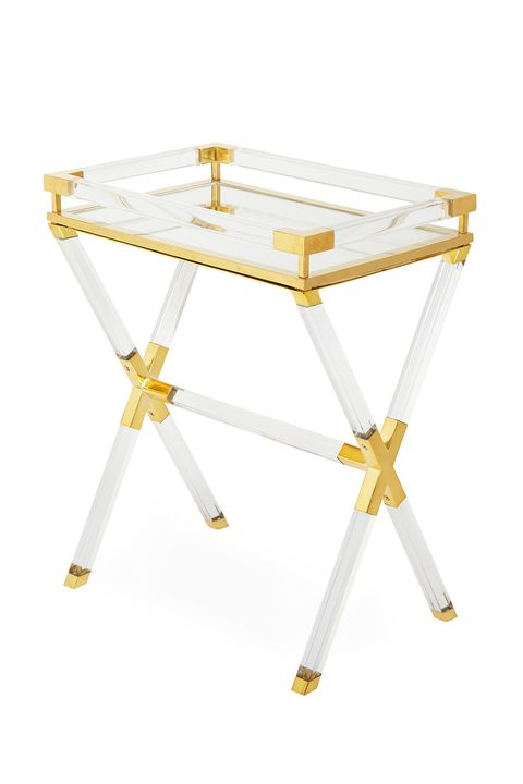 Furniture, White, Table, End table, Yellow, Coffee table, Metal,