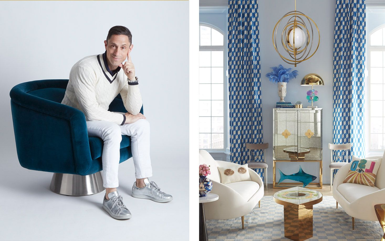 Jonathan Adler Just Released a Vibrant Fabric Collection with The Shade Store