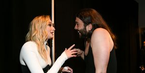 Jonathan Van Ness and Sophie Turner fangirling over each other