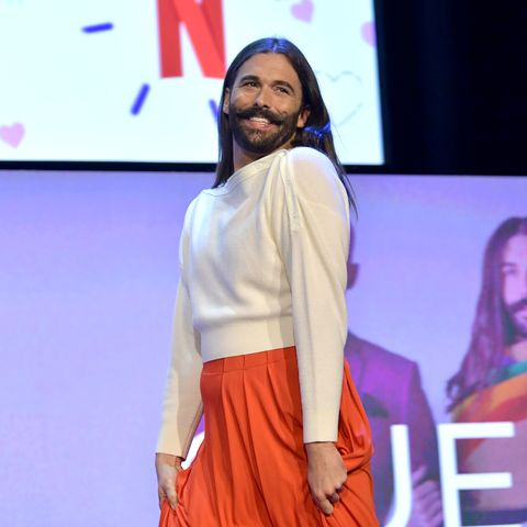 """jonathan van ness at netflix fysee """"queer eye"""" panel and reception"""