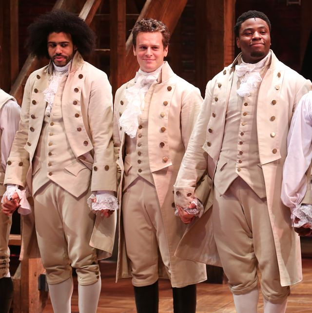 daveed diggs, jonathan groff and okieriete onaodowan during the broadway opening night performance of hamilton at the richard rodgers theatre on august 6, 2015 in new york city  photo by walter mcbridewireimage