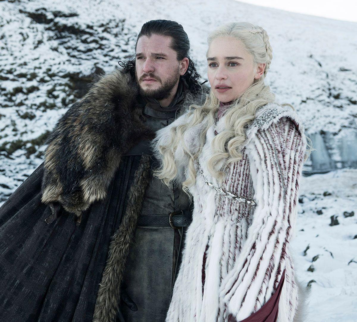 Jon Nieve y Daenerys Targaryen en 'Juego de Tronos'