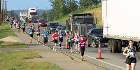 race alongside traffic