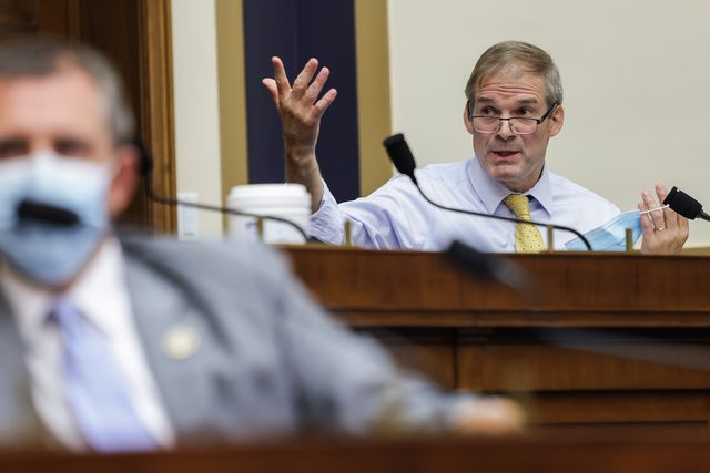 washington, dc   july 29 rep jim jordan r oh speaks during the house judiciary subcommittee on antitrust, commercial and administrative law hearing on online platforms and market power in the rayburn house office building, july 29, 2020 on capitol hill in washington, dc photo by graeme jennings poolgetty images
