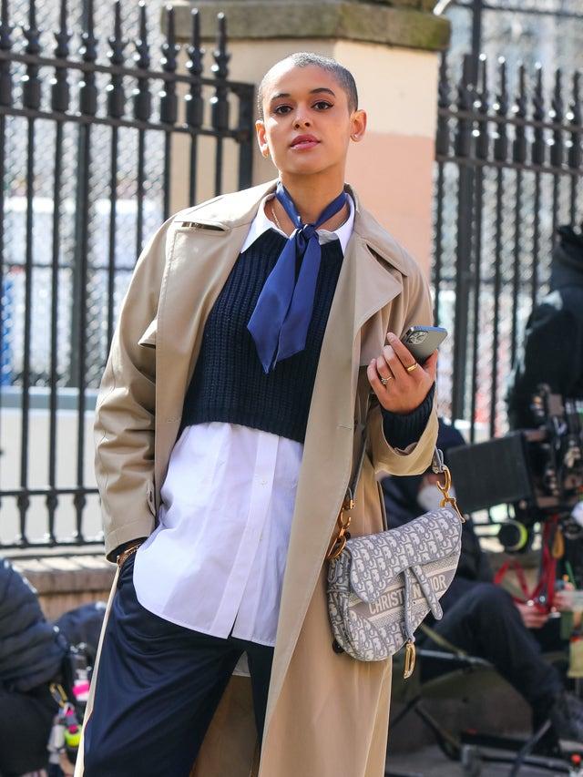 jordan alexander en el rodaje de gossip girl en nueva york