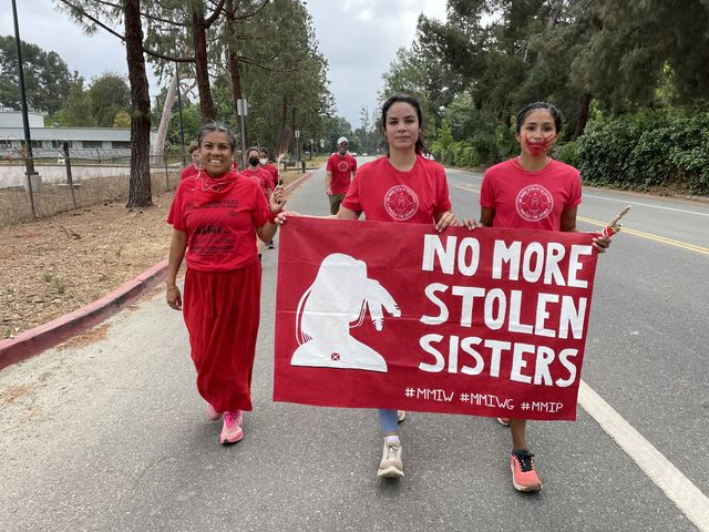 running for justice mmiw national day of awareness for missing and murdered indigenous women, girls, two spirits and our relatives running event and protest in may 2021 with jordan marie daniel