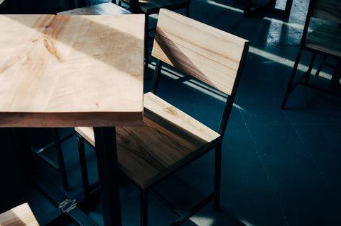 Wood, Table, Architecture, Furniture, Plywood, Design, Hardwood, Floor, Material property, Flooring,