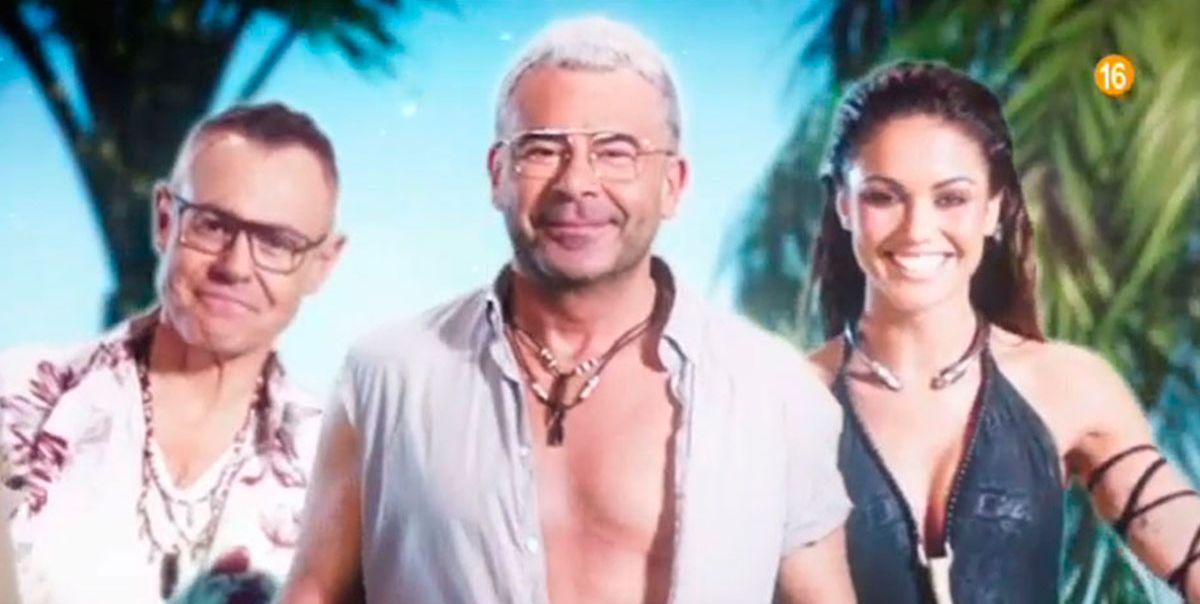 Jordi González, Jorge Javier Vázquez y Lara Álvarez en 'Supervivientes 2019'