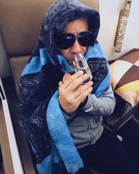 Cool, Eyewear, Blue, Sunglasses, Jeans, Denim, Smoking, Finger, Hand, Photography,