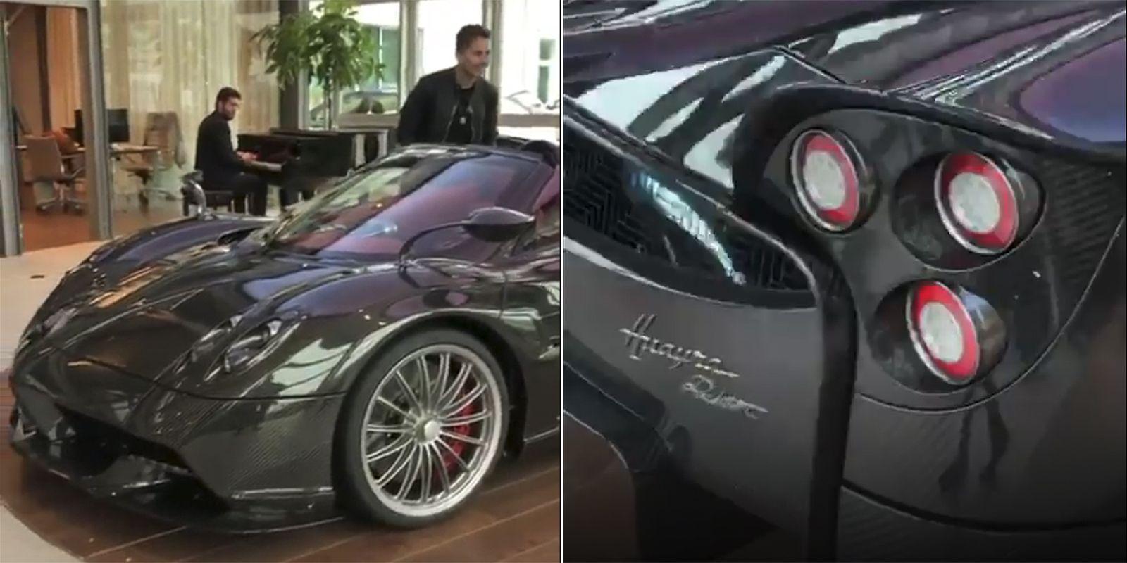 Jorge Lorenzo recibe su nuevo Pagani Huayra Roadster en un evento ...