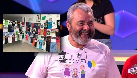 José Pinto y sus camisetas