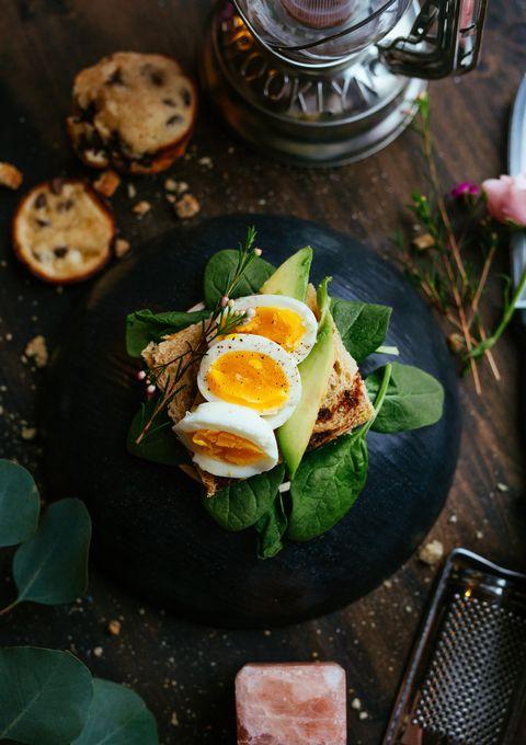 Food, Dish, Cuisine, Ingredient, Boiled egg, Breakfast, Fried egg, Brunch, Finger food, Meal,