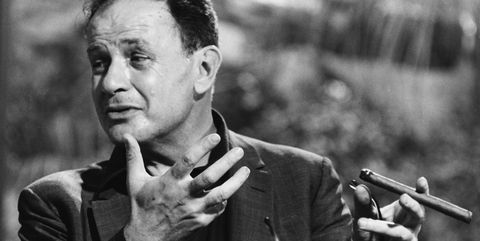 director joseph mankiewicz smoking a cigar on the set of the film the tale of the fox, or the honey pot, rome, october 1965 photo by keystonehulton archivegetty images